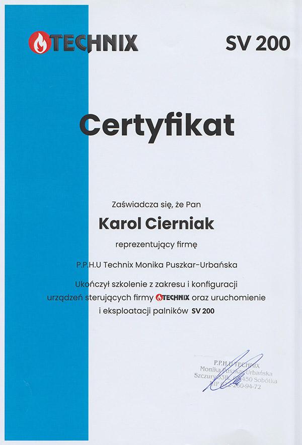 Serwis kotłów, pieców - certyfikat CKMET